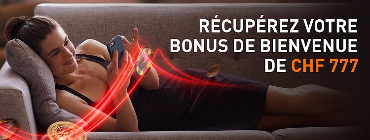100% de bonus jusqu'à CHF 777!