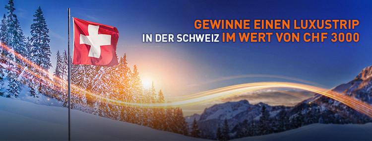 Gewinne einen Luxustrip in der Schweiz im Wert von CHF 3000