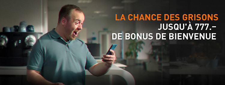 100 % de bonus jusqu'à CHF 777 !