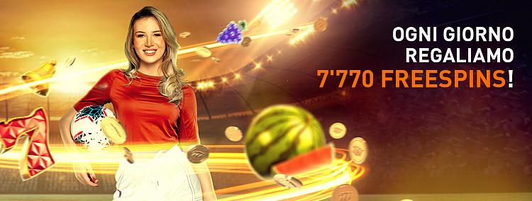 EURO 2020 - 7'770 Freespins Ogni Giorno!